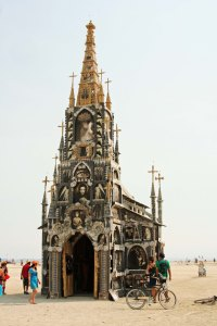 They have Church at Burning Man...  AND THEY SET IT ON FIRE!